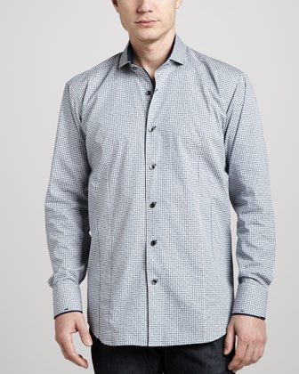 Giorgio Plaid Sport Shirt, Navy