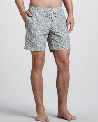 Charles Liberty Art Floral-Print Swim Trunks
