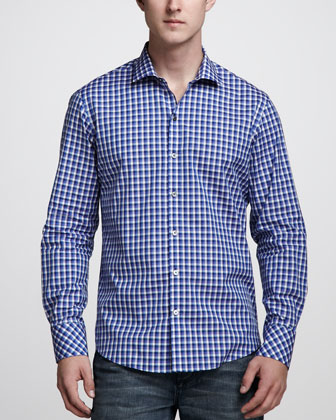 Campuzano Plaid Sport Shirt