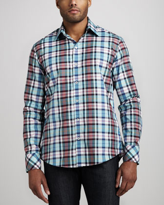 Annino Plaid Sport Shirt