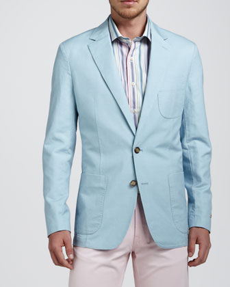 Soft Cotton-Linen Blazer