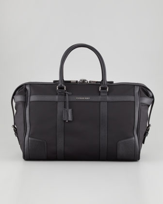 Leather-Trim Men's Duffel Bag