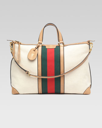 Canvas Top-Handle Duffel Bag