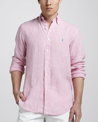 Striped Linen Sport Shirt