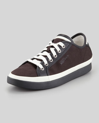Rabble Mid-Top Canvas Sneaker, Black/Brown