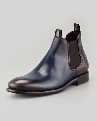Santo Chelsea Boot, Blue/Brown