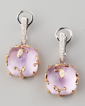 Lavender Vine Amethyst Drop Earrings