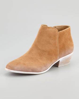 Petty Suede Ankle Boot, Cashew