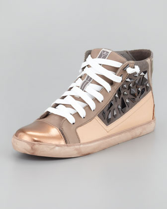 Holden Studded Cap Toe High-Top Sneaker