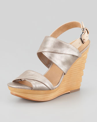Natey Platform Wedge Sandal, Rose