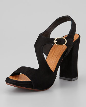 Cornelia Suede Cross-Band Sandal