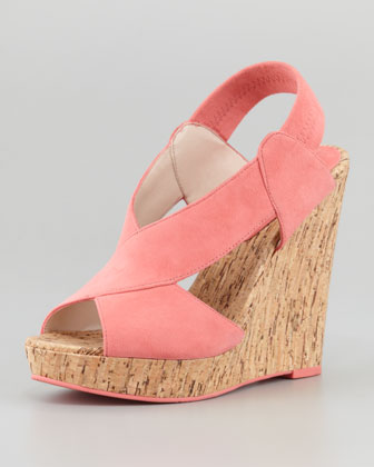 Dana Crisscross Cork Wedge Sandal