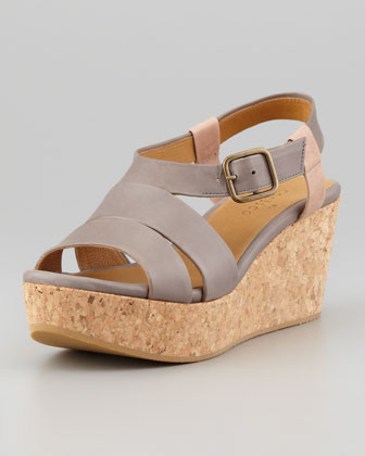 Manga Cork Wedge Sandal