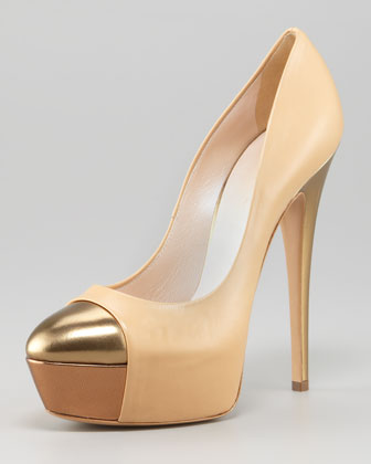Metallic Cap-Toe Pump