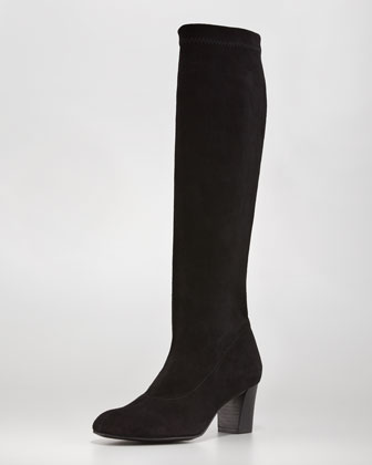 Passac Stretch Suede Boot, Black