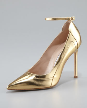 Storm Metallic Ankle-Strap Pump