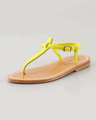 Picon T-Strap Thong Sandal, Yellow