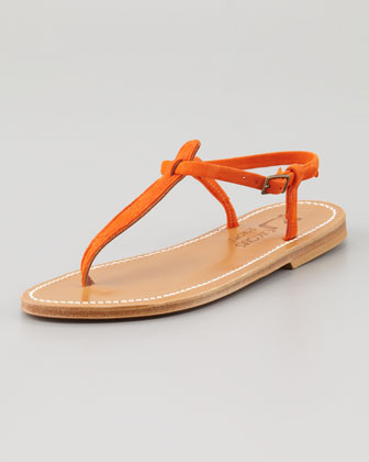 Picon T-Strap Thong Sandal, Red