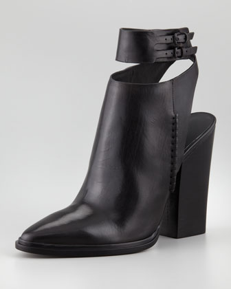 Dasha Calfskin Bootie, Black
