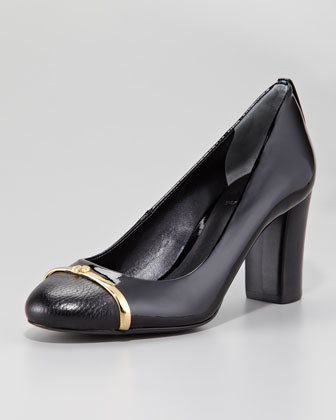 Pacey Cap-Toe Pump, Black