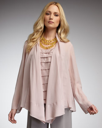 Sheer Draped Jacket