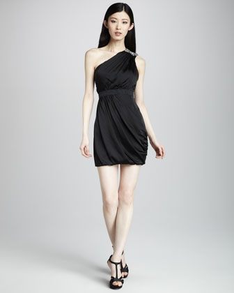 One-Shoulder Ruched Dress