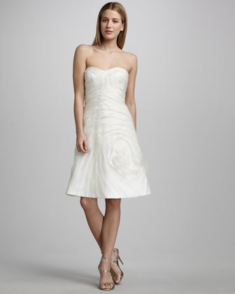 Organza Rose Cocktail Dress