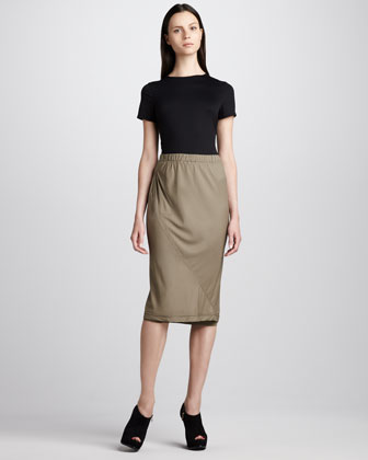 Layered Bias Skirt