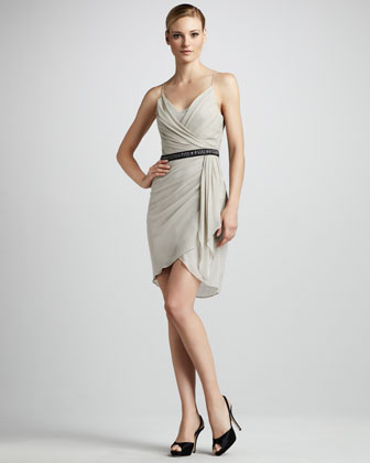 Side-Drape Cocktail Dress