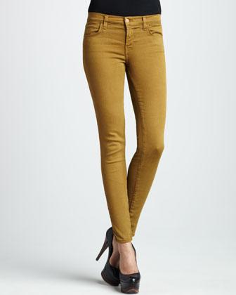 Mặc đẹp với quần skinny màu rêu
