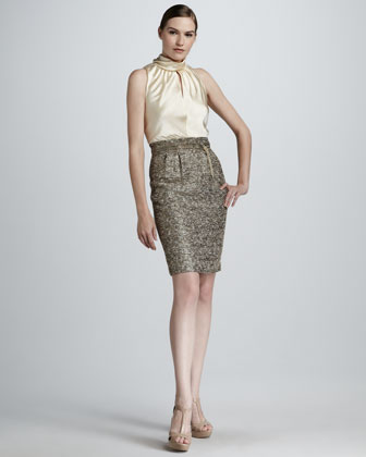 Tweed-Skirt Combo Dress