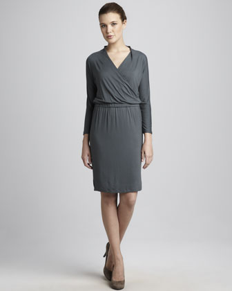 Crisscross Drape-Neck Dress