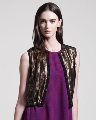 Sequined Jazz Vest