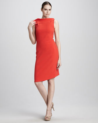 Drape-Neck Dress
