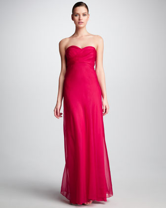 Strapless Sweetheart Gown