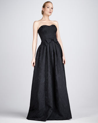 Jacquard Sweetheart Gown