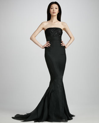 Beaded Fishtail Gown