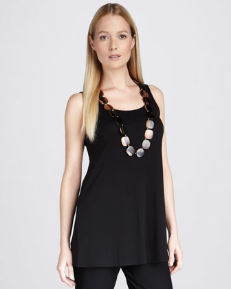 Sleeveless Silk Tunic