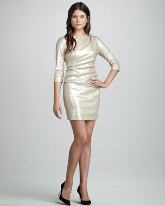 Stretch Sequin Dress
