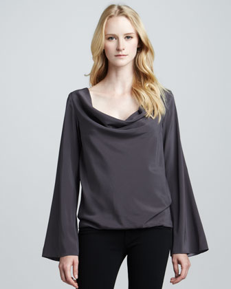Joni Drape-Neck Top