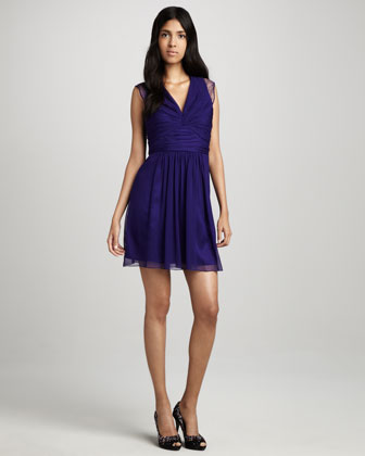 Lace-Back Cocktail Dress