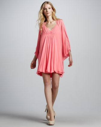 Fleurette Shift Dress, Pink Rose