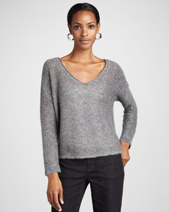 Alpaca V-Neck Sweater Top