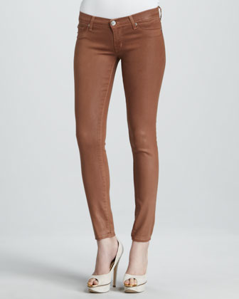 Krista Lucky Coated Super Skinny Jeans