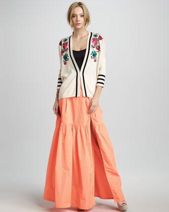 Secret Poem Tiered Maxi Skirt