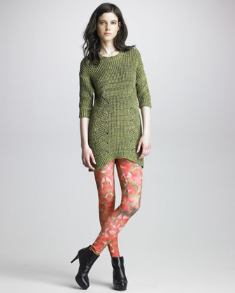 Petal-Printed Leggings