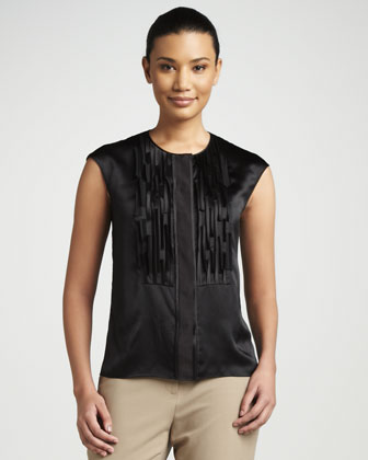 Laser-Cut Silk Top