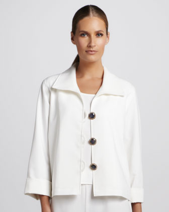 Crepe Bejeweled Jacket, Women's
