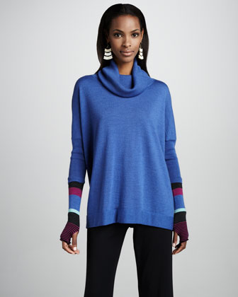 Funnel-Neck Slouch Tunic, Women's