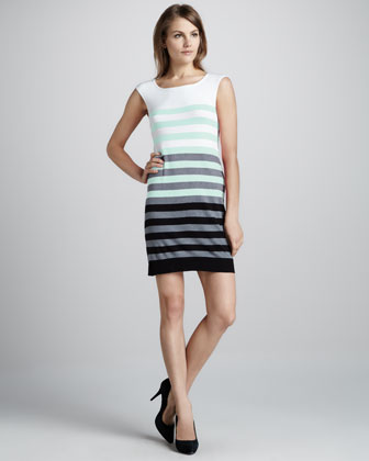 Multi-Stripe Knit Dress